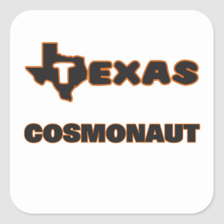 Texas Cosmonaut Square Sticker