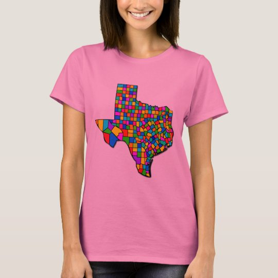 TEXAS COUNTIES MAP T-Shirt