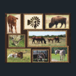 """Texas Country Collage Canvas Print<br><div class=""""desc"""">Wrapped canvas of photos taken in the north Texas countryside.</div>"""
