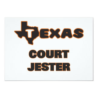 Texas Court Jester 5x7 Paper Invitation Card