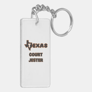 Texas Court Jester Double-Sided Rectangular Acrylic Keychain