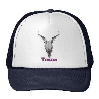Texas Cow Skull and Gun Hat