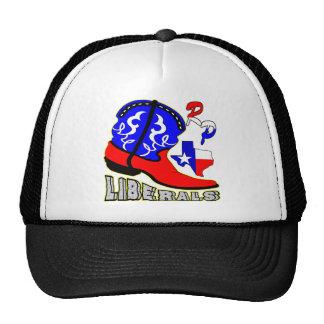 Texas Cowboy Boot Crushing Liberals Trucker Hat