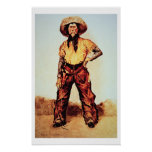 Texas Cowboy, c.1890 (oil on canvas) Poster