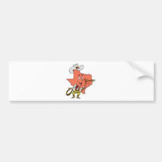 texas cowboy cartoon bumper sticker