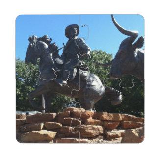 Texas Cowboy Puzzle Coaster
