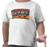 Texas (Cowboy Roping Bull)Large Letter Scenes Tshirts