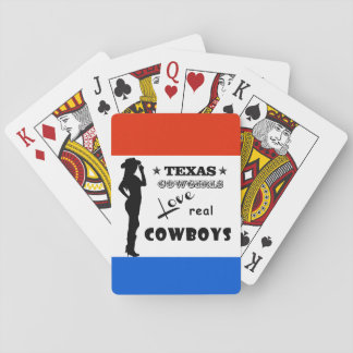 Texas Cowgirls Love Real Cowboys Playing Cards