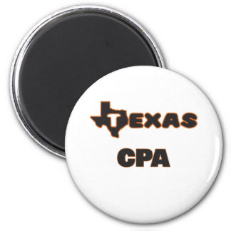 Texas Cpa 2 Inch Round Magnet