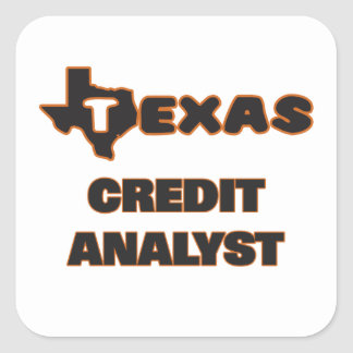 Texas Credit Analyst Square Sticker