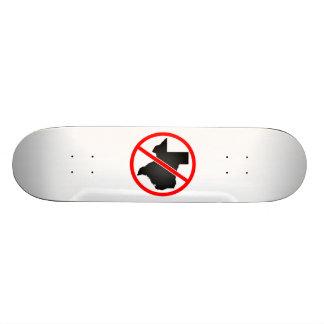 Texas Cross Out Symbol Skateboard Deck