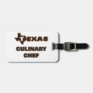 Texas Culinary Chef Tags For Bags