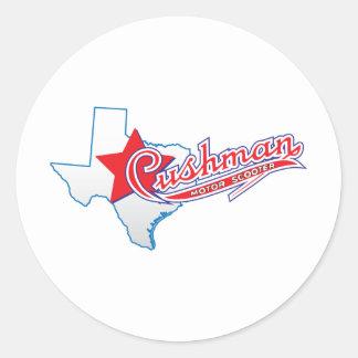Texas Cushman Club Designs Classic Round Sticker