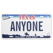 Texas Custom License Plate at Zazzle