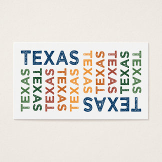 Texas Cute Colorful Business Card