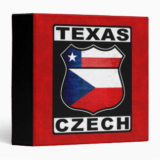 Texas Czech American 3 Ring Binder