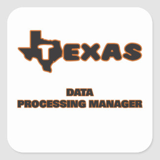 Texas Data Processing Manager Square Sticker