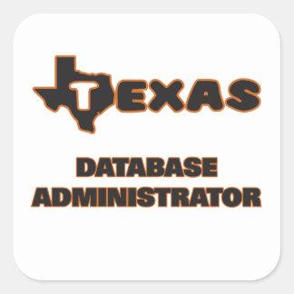 Texas Database Administrator Square Sticker