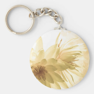 Texas Dawn Water Lilies in Sepia Key Chains
