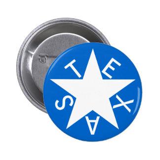 Texas De Zavala Flag Pen Pinback Button