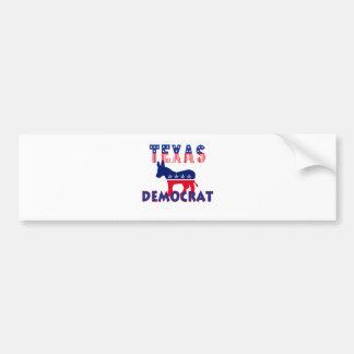 Texas Democrat Car Bumper Sticker