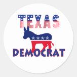 Texas Democrat Round Stickers