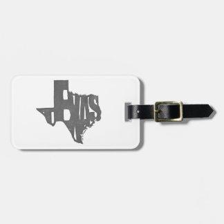 Texas Digitized from a Senseshaper Woodcut Print Travel Bag Tag
