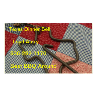 texas dinner bell Double-Sided standard business cards (Pack of 100)