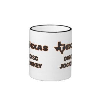Texas Disc Jockey Ringer Coffee Mug