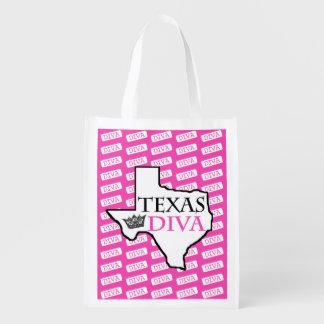 """""""Texas Diva"""" Reusable Grocery Bag"""