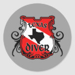 Texas Diver Round Sticker