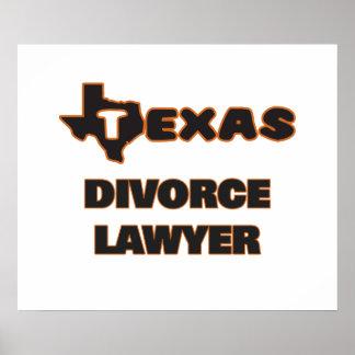 Texas Divorce Lawyer Poster