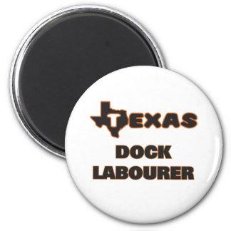 Texas Dock Labourer 2 Inch Round Magnet