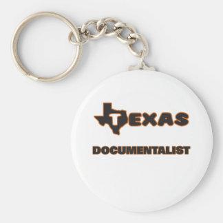 Texas Documentalist Basic Round Button Keychain