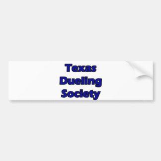 texas dueling society bumper sticker