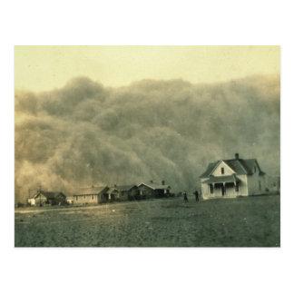 Texas Dust Storm Postcard