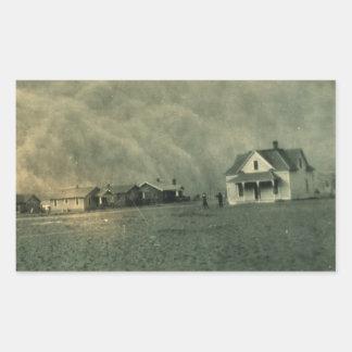Texas Dust Storm Rectangular Sticker