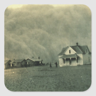 Texas Dust Storm Square Sticker