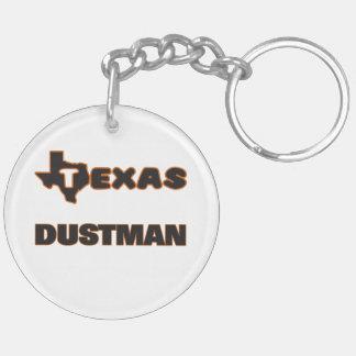 Texas Dustman Double-Sided Round Acrylic Keychain