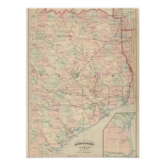 Texas, Eastern Portion Poster
