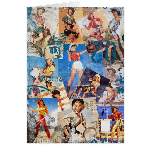 Texas Eclectic : Cowgirl Collection No. 1 Greeting Cards