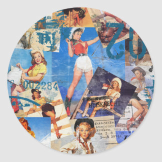 Texas Eclectic : Cowgirl Collection No. 1 Classic Round Sticker