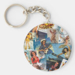 """Texas Eclectic """" Cowgirl Collection No. 2 Basic Round Button Keychain"""