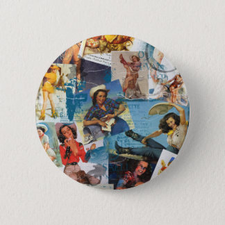 """Texas Eclectic """" Cowgirl Collection No. 2 Pinback Button"""