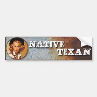 Texas Eclectic : Native Texan! Car Bumper Sticker