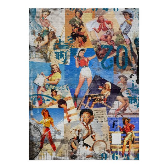 Texas Eclectic : Vintage Cowgirl Collection No. 1 Poster