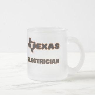 Texas Electrician 10 Oz Frosted Glass Coffee Mug