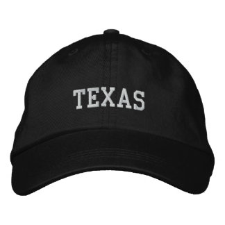 Texas Embroidered Adjustable Cap Black