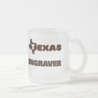 Texas Engraver 10 Oz Frosted Glass Coffee Mug