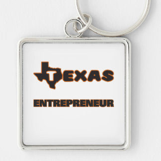 Texas Entrepreneur Silver-Colored Square Keychain